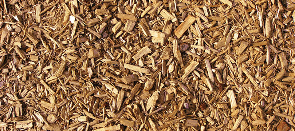 Rubber Bark Chips ~ Playground mulch surfacing engineered wood
